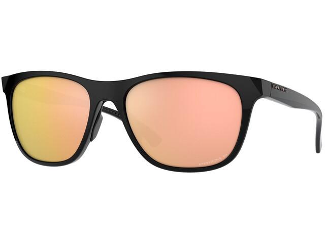 Oakley Leadline Sunglasses Women, polished black/prizm rose gold polarized